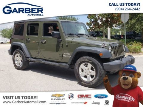 PRE OWNED 2015 JEEP WRANGLER UNLIMITED SPORT 4WD