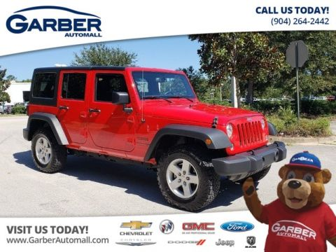 PRE-OWNED 2018 JEEP WRANGLER JK UNLIMITED SPORT S W/HARDTOP 4WD