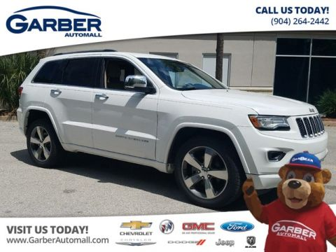 PRE-OWNED 2015 JEEP GRAND CHEROKEE OVERLAND W/NAVIGATION + SUNROOF
