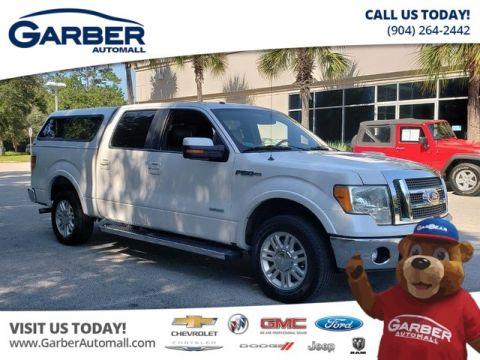 PRE-OWNED 2011 FORD F-150 LARIAT W/FULL TOPPER  BACKUP CAMERA RWD TRUCK