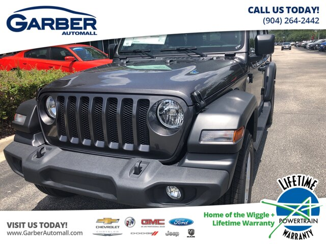 New 2019 Jeep Wrangler Unlimited Sport 4x4, Black Hard Top, , Tech Package