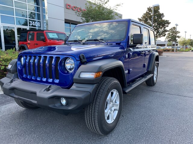 New 2019 Jeep Wrangler Unlimited Sport 4x4, Trailer Tow, Hard Top, 7 Radio