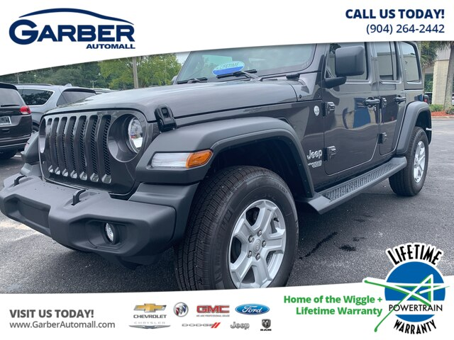 New 2019 Jeep Wrangler Unlimited Sport 4x4 Tech Group, auto, Hard Top