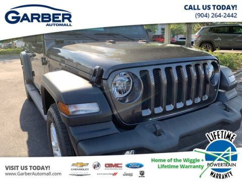 New 2019 Jeep Wrangler Unlimited Sport S Package and Premium Soft Top