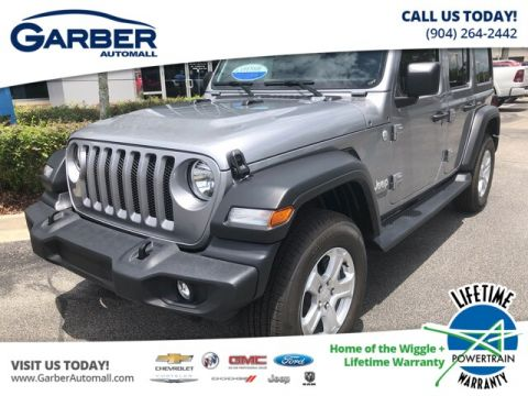 NEW 2019 JEEP WRANGLER UNLIMITED SPORT 4X4, BLACK HARD TOP, TECH PACKAGE 4WD