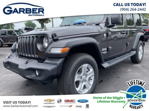 NEW 2019 JEEP WRANGLER UNLIMITED SPORT 4X4 BLACK HARD TOP, TECH PACKAGE 4WD