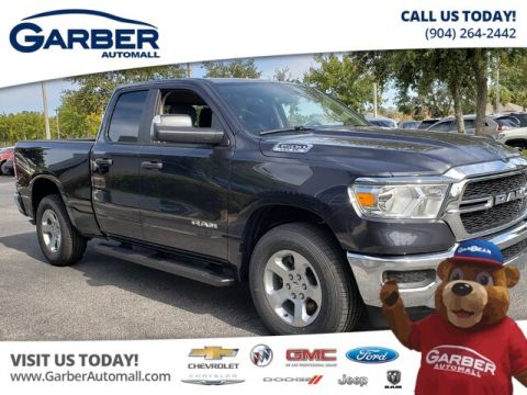 NEW 2019 RAM 1500 TRADESMAN QUAD CAB 4X4 IN LOANER STATUS 4WD
