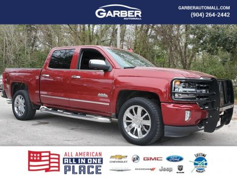 PRE-OWNED 2018 CHEVROLET SILVERADO 1500 HIGH COUNTRY WITH NAVIGATION & 4WD